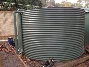 Round steel rainwater tanks